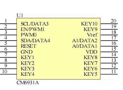 cm6931a人体触摸智能感应电路 -pdf,cm6931a中文资料